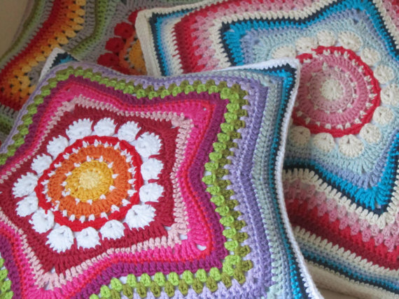Вязанные подушки схемы и фото