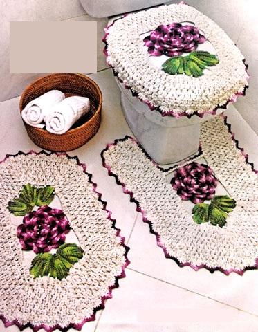 Фото коврики в ванную комнату и туалет крючком