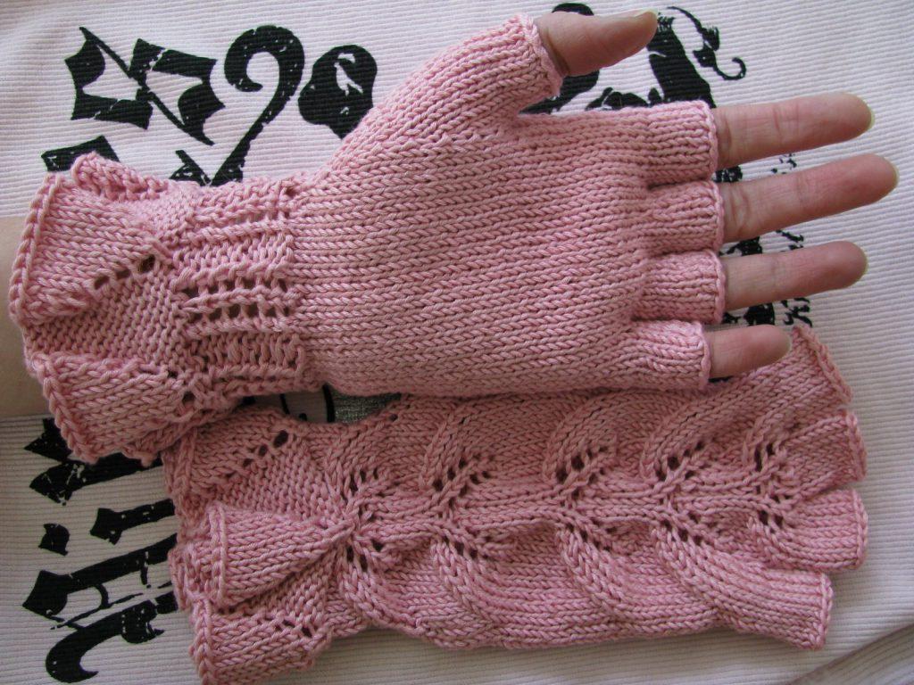Фото вязаные митенки в виде перчаток
