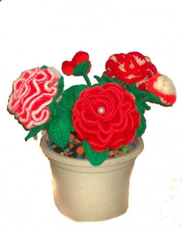 Вязание цветов калл крючком 57