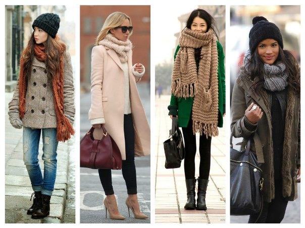 зимние аксессуары одежды