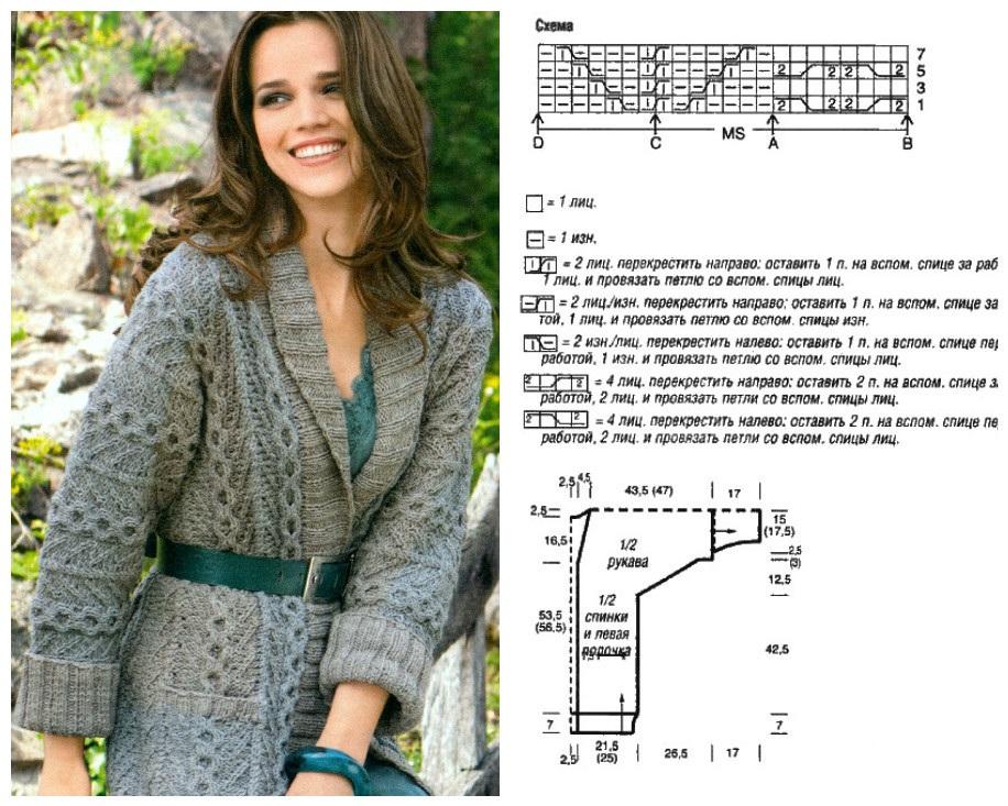 Фото пальто вязаное для полных женщин схемы и описание