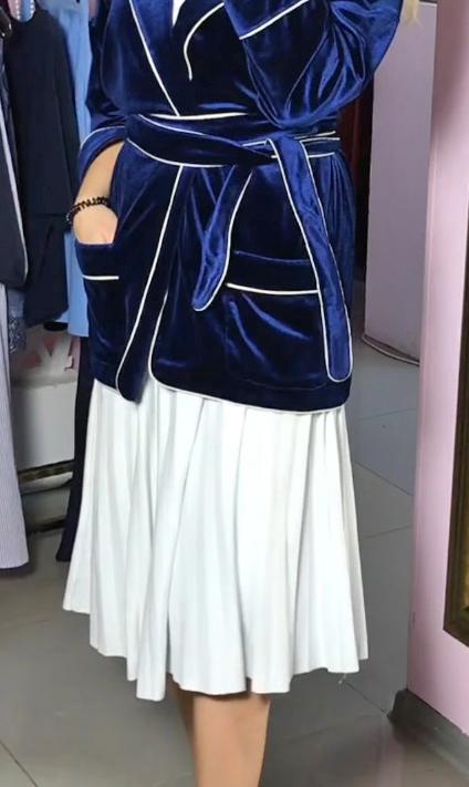 бархатная накидка с юбкой