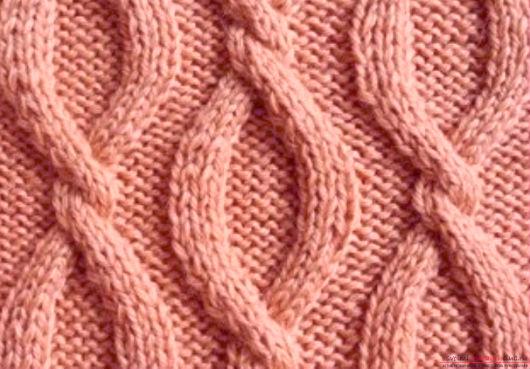 Вязание жгутов спицами фото