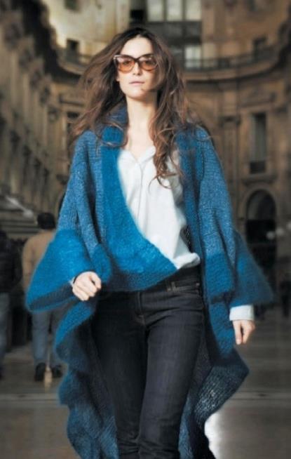 Фото вязаное пальто спицами для полных женщин