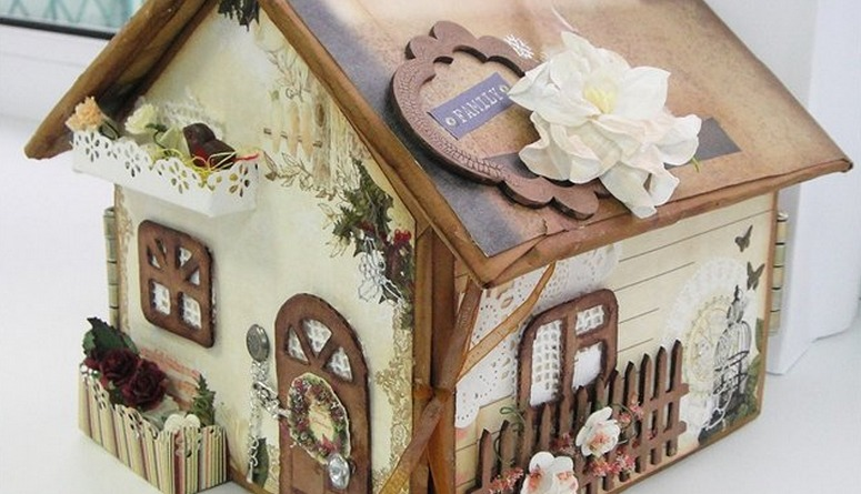 скрапбукинг домик фото