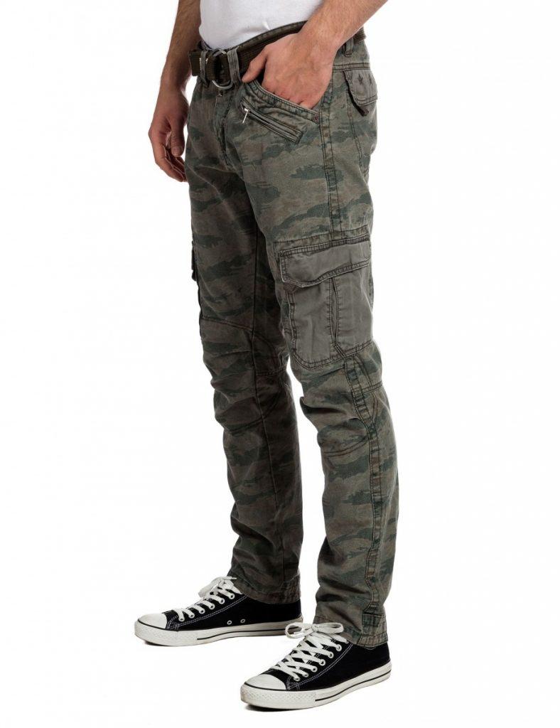 брюки карго камуфляжные