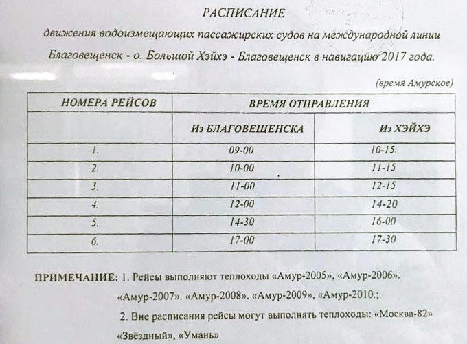 Расписание речного порта
