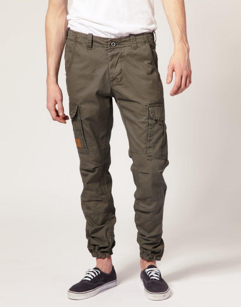 брюки карго хаки