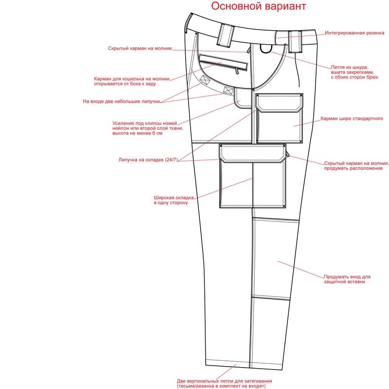 брюки карго выкройка
