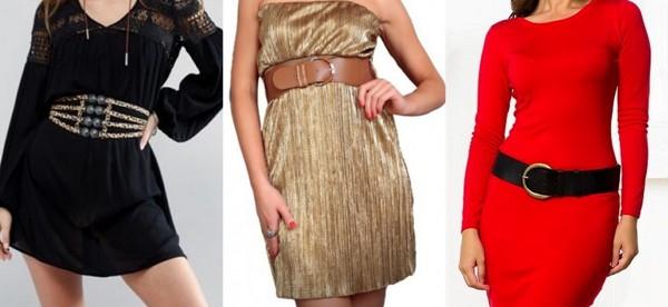 пояса с платьями