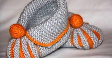 Собираем приданое для малыша: как связать спицами красивые пинетки зефирки без шва