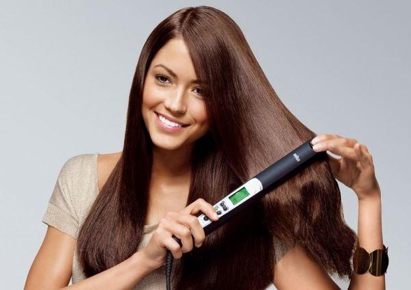 сушка волос утюжком