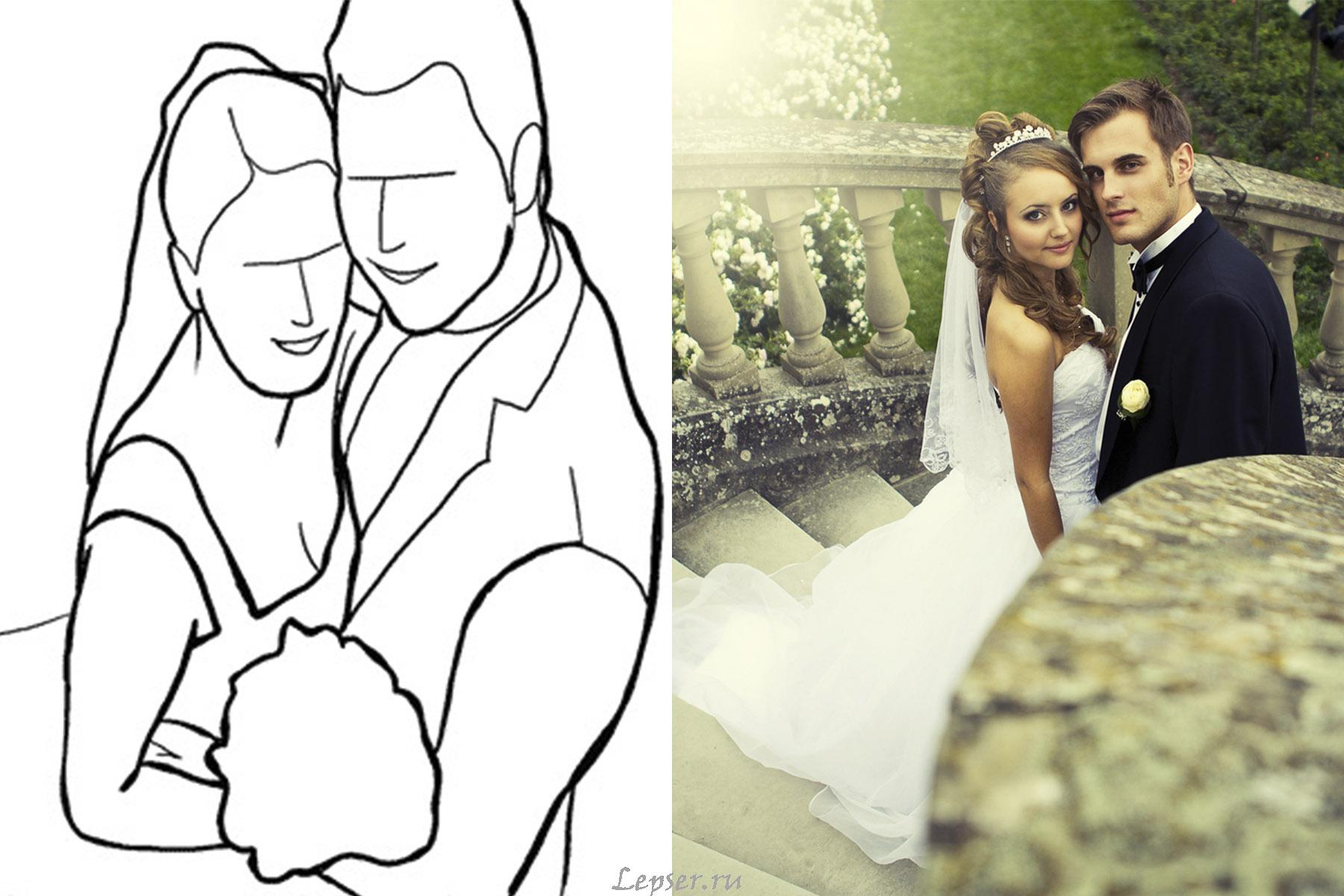 монтаж выигрышные позы для свадебной фотосессии меня