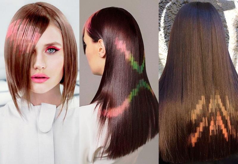 примеры пиксельного окрашивания волос