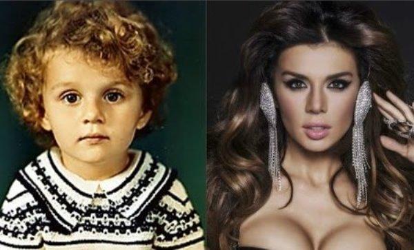 Анна в детстве и сейчас