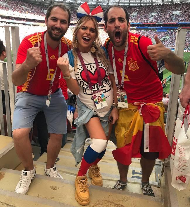 Анна Хилькевич на футболе