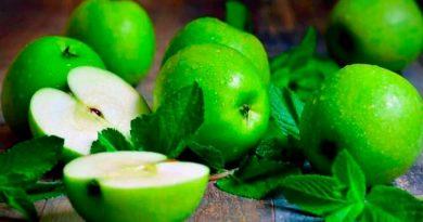 зеленые яблоки, фото