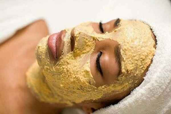 нанести маску на лицо
