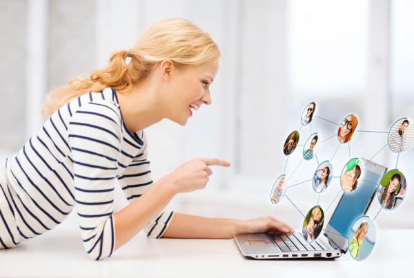 общение в социальных сетях