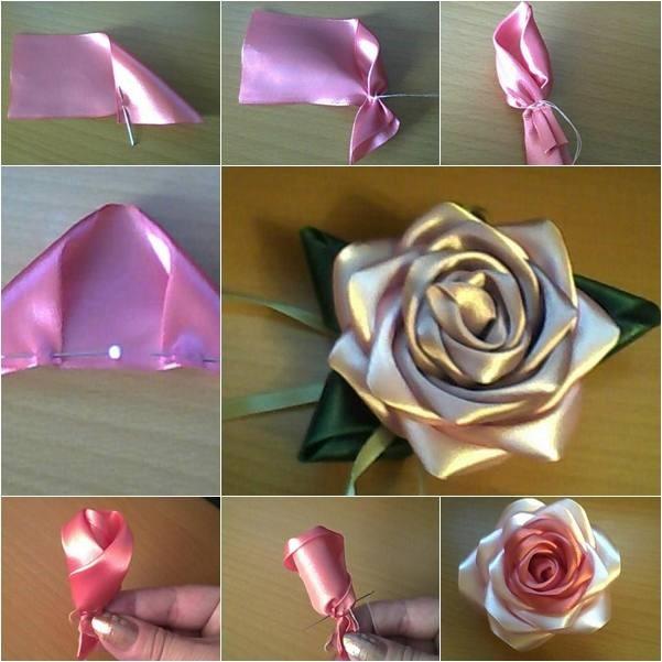 Роза из лент 2