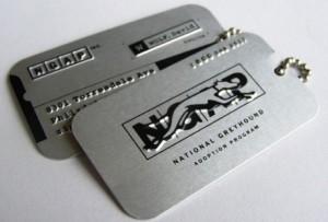 Металлические визитки 5