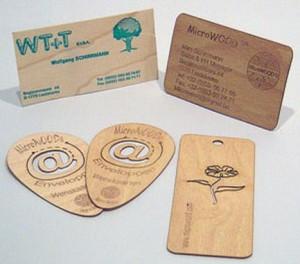 Деревянные визитки 3