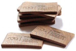 Деревянные визитки 1