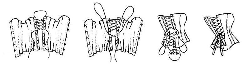 Схема шнуровки свадебного платья