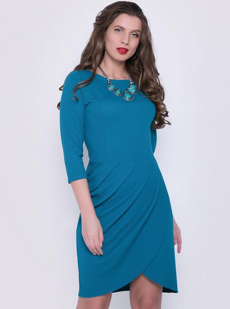 трикотажное платье тюльпан