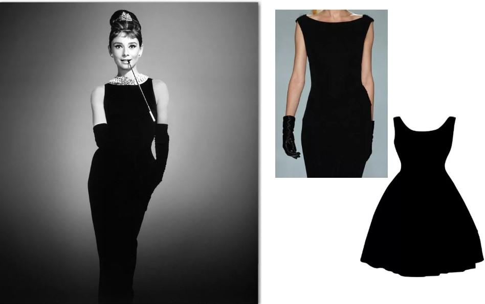 Черное платье от Шанель