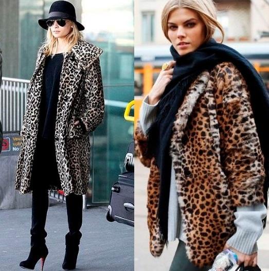 Леопардовый стиль в верхней одежде