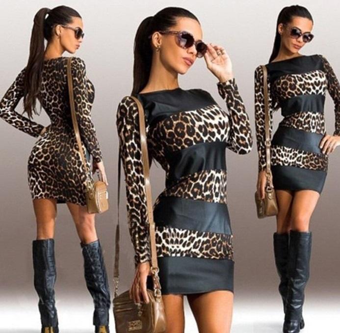 Леопардовый принт в сочетании