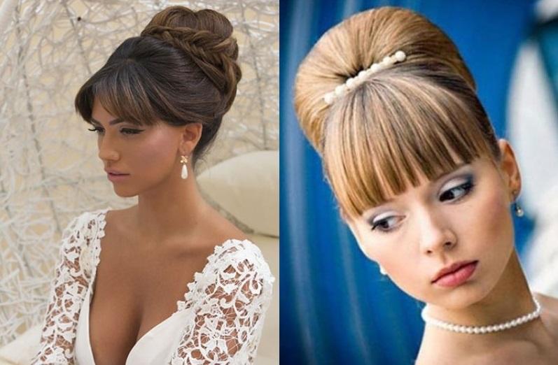 свадебные причёски с чёлкой фото 2