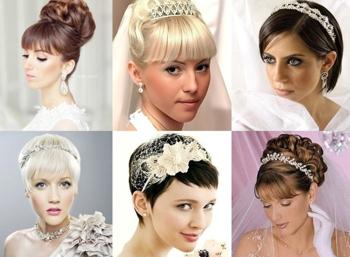 свадебные причёски с чёлкой