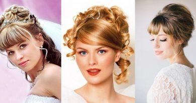 Особенности свадебных причёсок с чёлкой