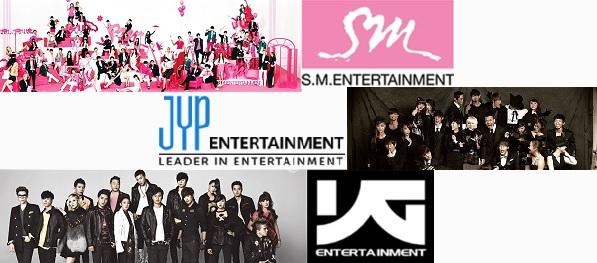 SM Entertainment и JYP Entertainmen