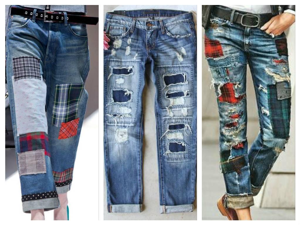 Лоскутные джинсы от Junya Watanabe