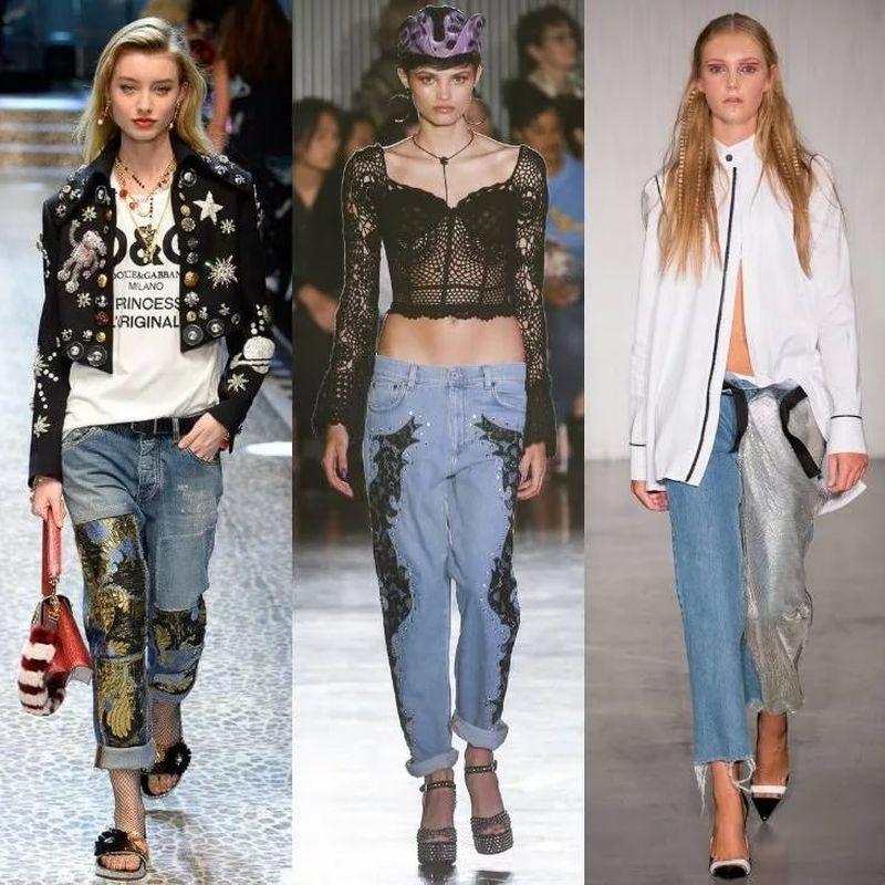 Джинсы показ мод 2019