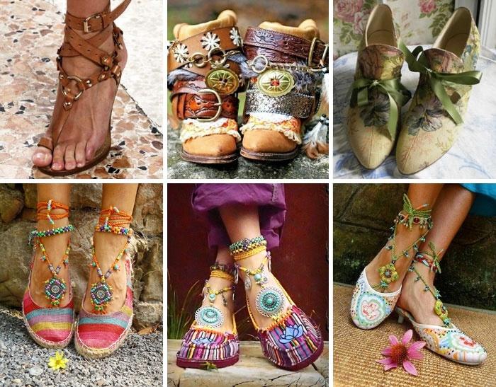 Обувь в этническом стиле
