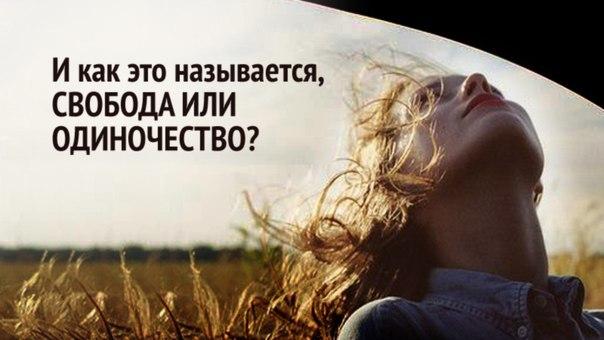 Одиночество или свобода