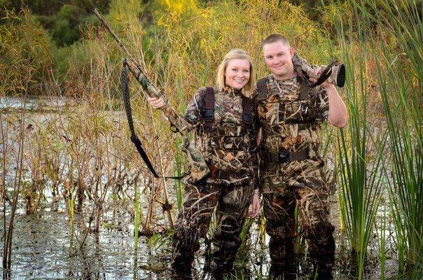 С мужем на охоте
