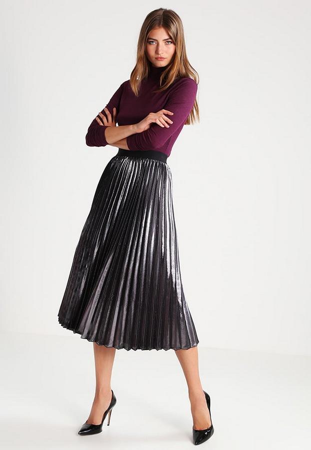 металлик плиссированная юбка