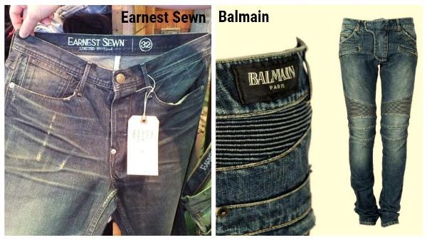джинсы Earnest Sewn и Balmain