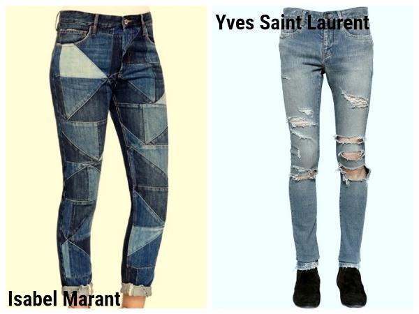 джинсы Isabel Marant и Yves Saint Laurent
