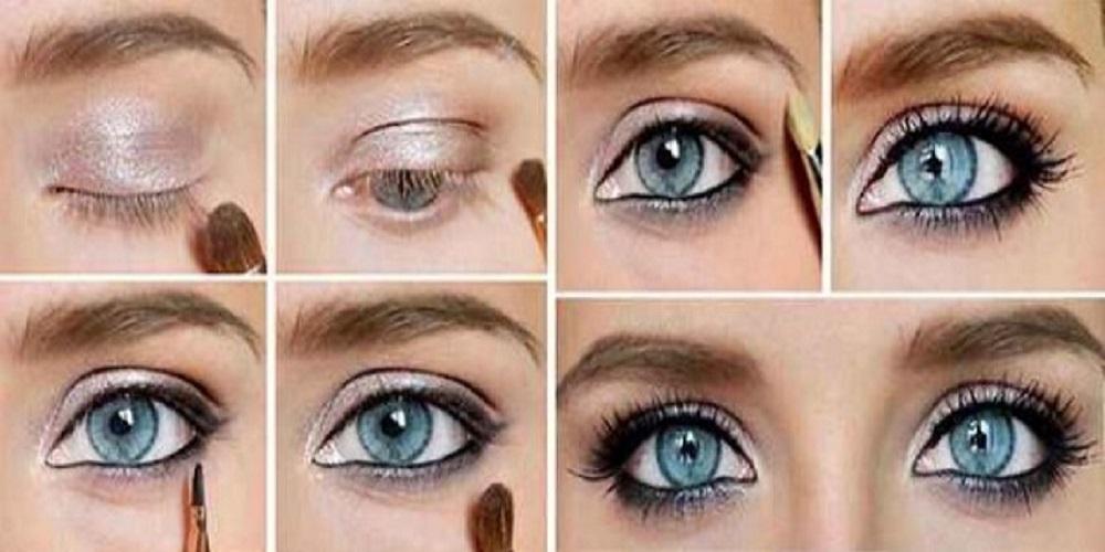 Как увеличить глаза с помощью теней