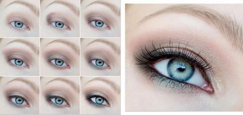 Нанесение макияжа для голубоглазых