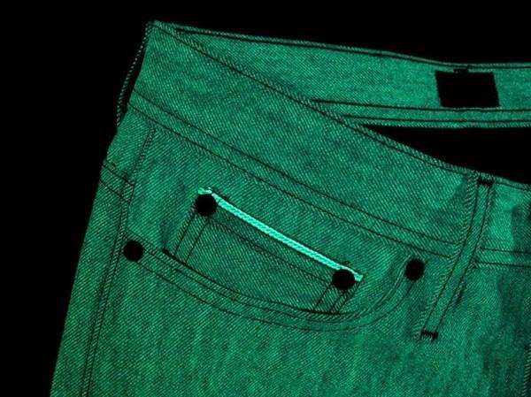 Сияющие в темноте джинсы