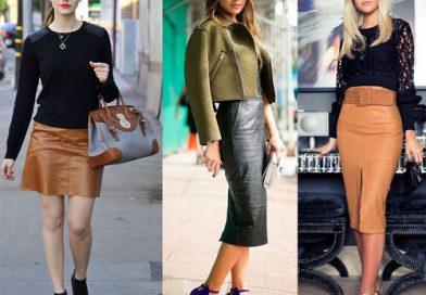 С чем носить юбку из кожи