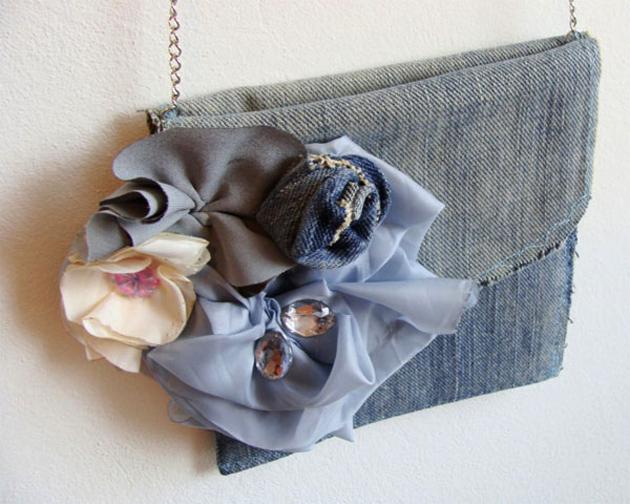 Модные сумки из денима